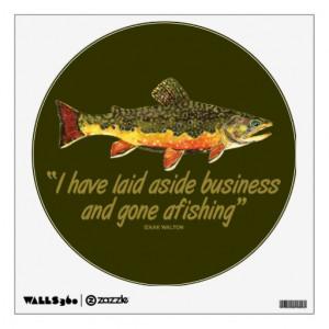 Izaak Walton Fishing Quote Wall Decals