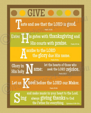 Give Thanks Thanksgiving Printable Wall Art DIY PRINTABLE 8x10 ...