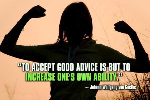 Ability quotes to accept good advice