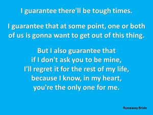 Quote. (Runaway Bride)Cartoons Quotes, Fav Quotes, Movie Quotes, Great ...
