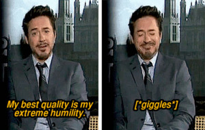 funny pictures robert downey jr humility wanna joke.com
