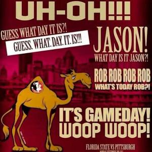IT'S NOLES GAME DAY!! WOOP WOOP!!