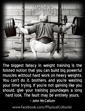 John McCallum's Take on The Importance of Lifting Heavy Things