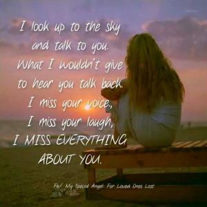 miss you ♥ Mama Papa Aunt Nana Aunt Carol Uncle Nick Rita Margaret ...