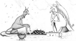 funny angel devil and chess funny cartoons directory philosophy