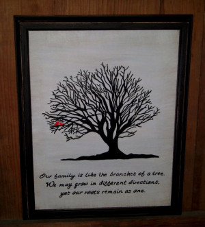 Family Tree Painting and Family Quote by fullcirclecre8 on Etsy, $35 ...