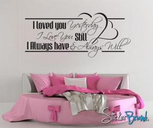 Vinyl Wall Decal Sticker Love Quotes BHuey118B
