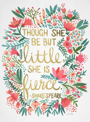 ... Quote, Fierce Quote, Quotes, Little Girl Quote, Typography Quote, Art