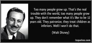 Too Many People Grow Up Disney