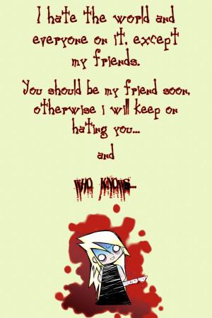 Hate The World Quotes http://jairudesu.deviantart.com/art/I-Hate-the ...