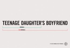 ... : Ex-Wife's Lawyer, Boss's jokes, Teenage daughter's boyfriend