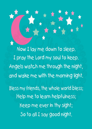 Children's Bedtime Prayer Art Print