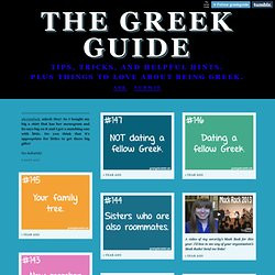 PanhellenicForever. All About Sorority. THE GREEK GUIDE. Anonymous ...