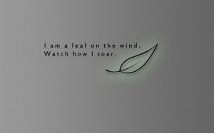 serenity leaf quotes wind firefly fly watches 1280x800 wallpaper High ...