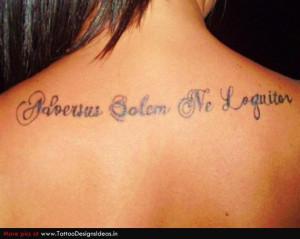 latin phrase tattoo