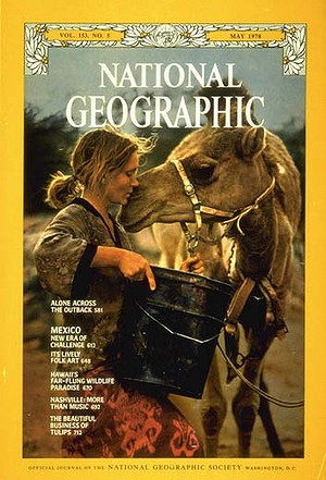 Robyn Davidson on the cover of National Geographic
