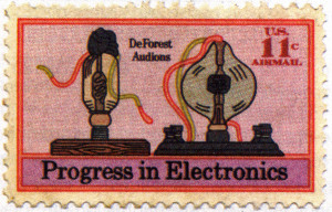 ... stamp issued in 1973 to mark the centenary of Lee de Forest's birth