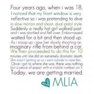short & sweet love story...