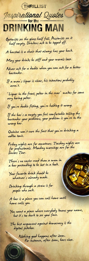 Quotes About Drinking - 16 New Quotations for the Drinking Man ...