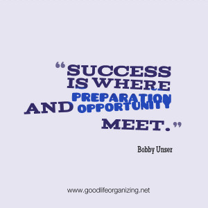 Quote: Success, Preparation, Opportunity