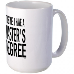 College Gifts > College Mugs > Master's degree