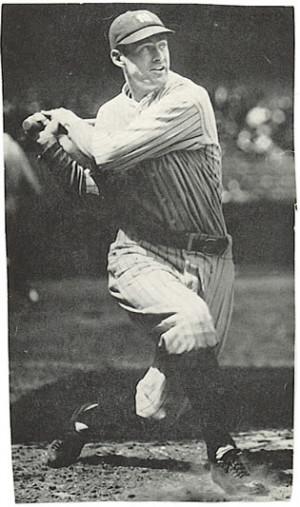 Yankee leadoff man Earle Combs