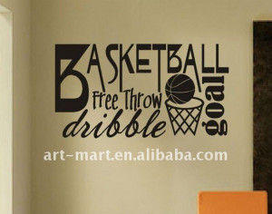 ... Sticker & Wall Decal > Vinyl Wall Quotes Word Art Collage Basketball