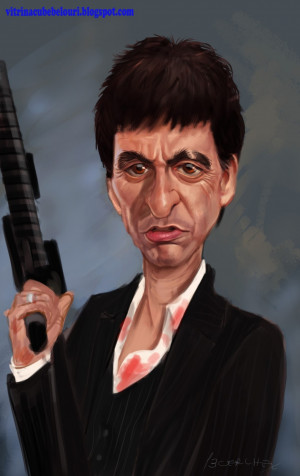 Pacino Tony Montana Caricature Vitrina Bebelouri