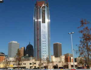 Devon Tower rises in downtown Oklahoma City. PHOTO BY JERRY BOYLES.