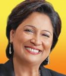 Mrs. Kamla Persad-Bissessar, Leader of the Opposition, Trinidad ...