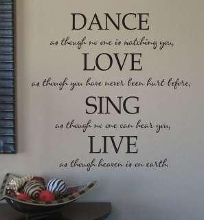 Vinyl Lettering Interior Wall Words Quotes Decor Art
