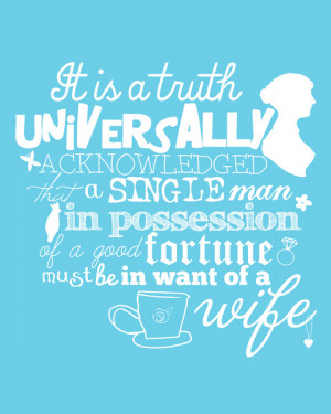 Pride and Prejudice Quote Print Jane Austen Mr. Darcy Art Print