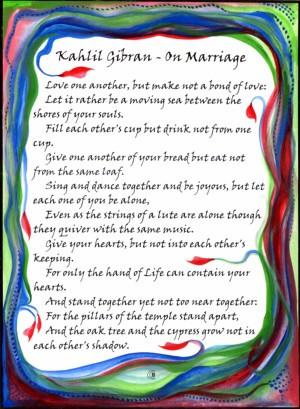 Marriage Mag Kahlil Gibran