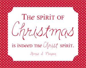 Thomas S. Monson *Spirit of Christmas* FREEBIE #simplyfreshdesigns