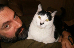Peter Steele and his cat (who has the same expression on its face that ...