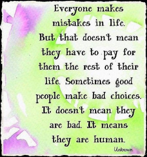 We are all human..