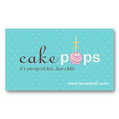 cake pops business cards more holiday business cards design business ...