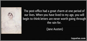 The post-office had a great charm at one period of our lives. When you ...