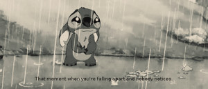 ... Moment when you're falling apart and nobody Notices ~ Break Up Quote