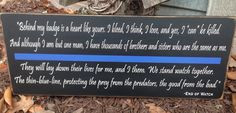... Police Officer Corrections LE Cop wood sign on Etsy, $55.00