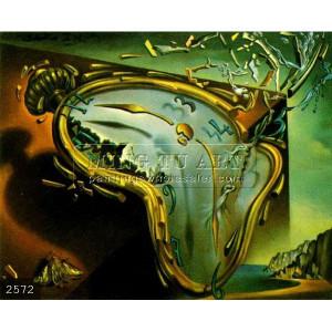 À la main salvador dali peinture à l'huile surréaliste, Montre ...