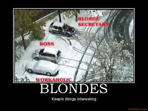Dumb blonde joke of the day #2