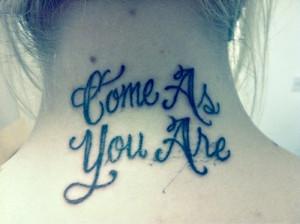 nirvana tattoo come as you are