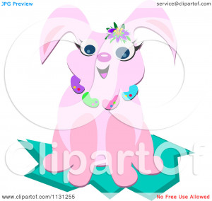 Related Pictures pink happy easter cartoon easter bunny in a basket ...