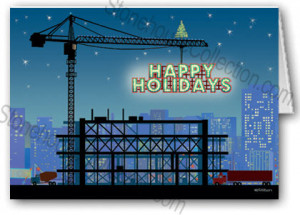 construction christmas cards personalised construction construction ...