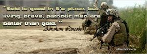 military army abraham lincoln quotes facebook timeline cover banner ...