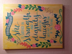 Proverbs 3125 Canvas Quotes Painting by KaceyPaints on Etsy, $15.00