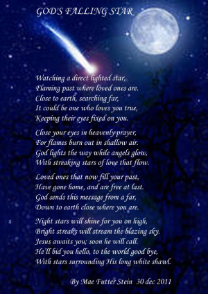 Falling Star Quotes God's falling star - spiritual