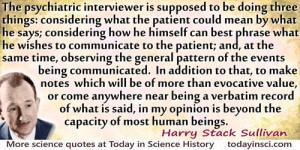 Harry Stack Sullivan quote The psychiatric interviewer