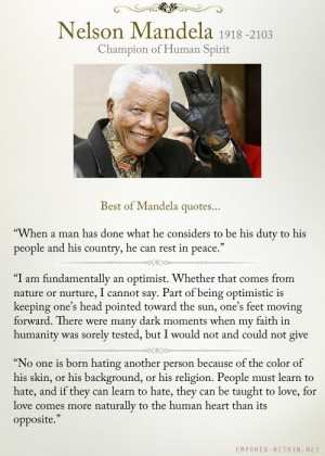 Best of Nelson Mandela quotes about empowerment and equality.